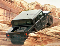Black Hummer 4 Door Hardtop in Moab, Utah