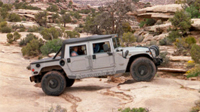 Silver Hummer Open Top in Moab