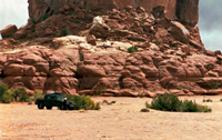 Green Hummer Hardtop in Moab