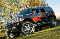 Hummer H3 SEMA Show vehicle by Realwheels