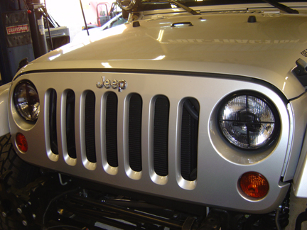 Jeep Wrangler with Delta Quad Bar Headlights